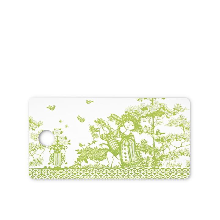 Smørebræt med grønt Rosegarden motiv af Bjørn Wiinblad