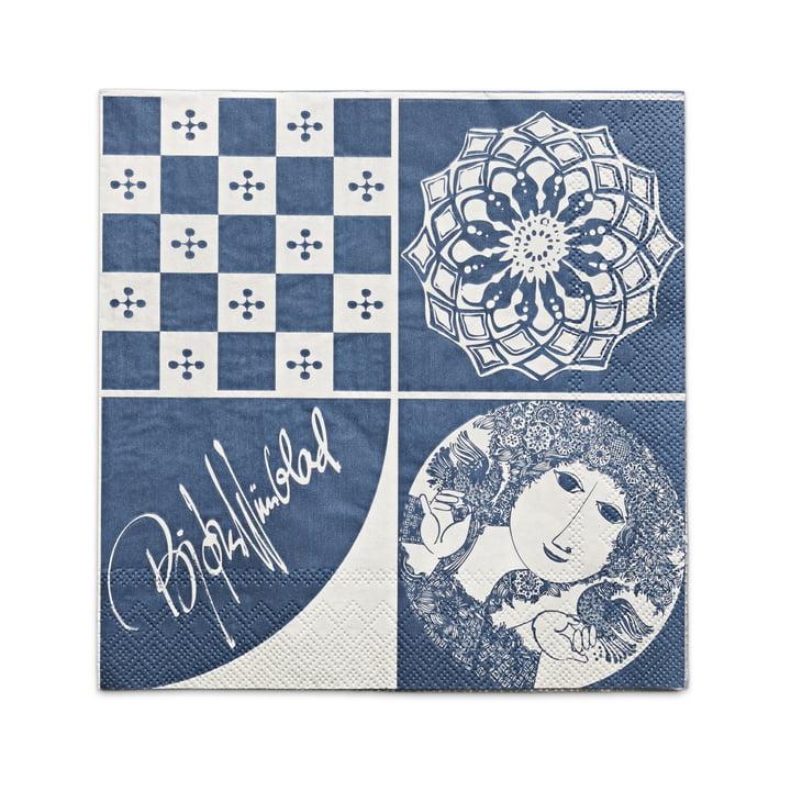 Bjørn Wiinblad – papirservietter 40 x 40 cm, blå