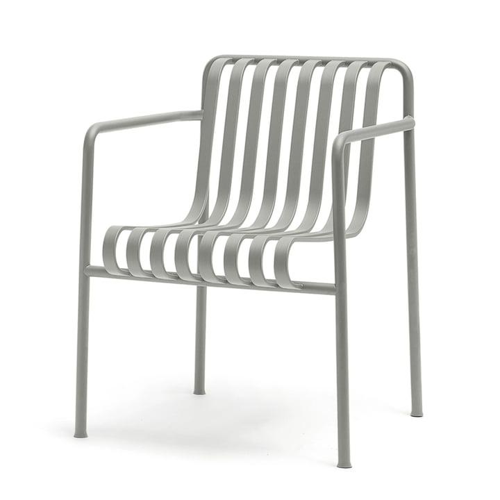 Palissade spisebordsstolen med armlæn fra Hay i lysegrå