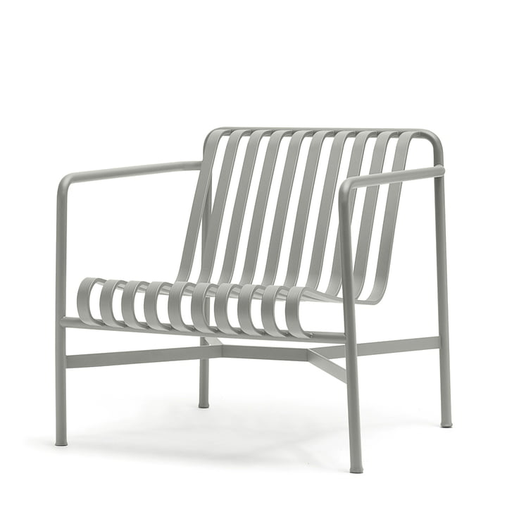 Palissade Lounge Chair Low i lysegrå
