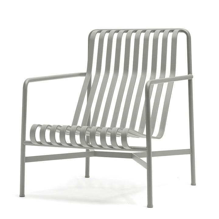 Den høje Palissade loungestol fra Hay i lysegrå