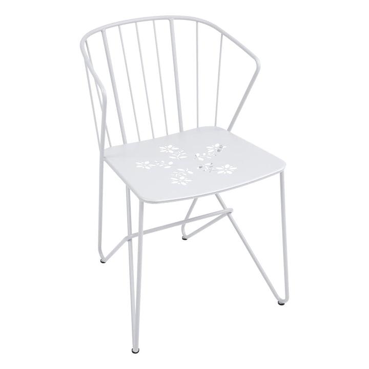 Fermob – Flower armstol med mønster, bomuldshvid