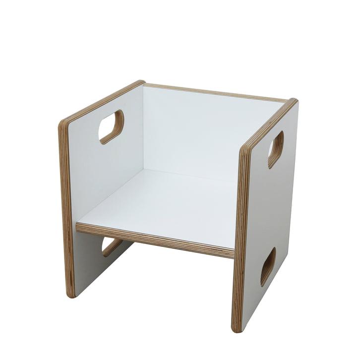 debe.detail Convertible Chair i hvid fra de Breuyn med en sædehøjde på 17 cm