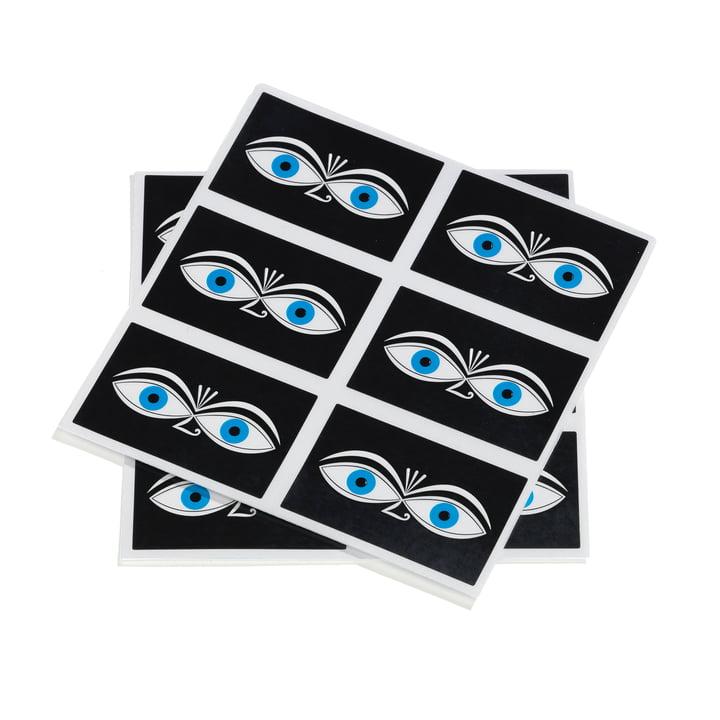 Eyes klistermærke fra Vitra i blå