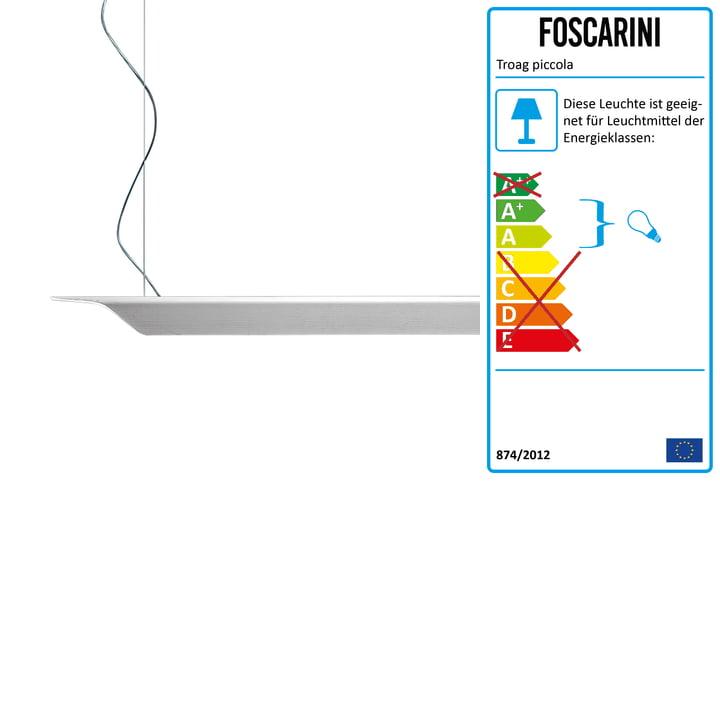 Lille Troag pendel fra Foscarini i hvid, 2 m