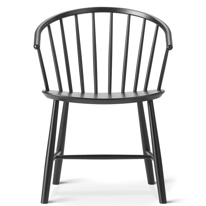 J64 stol fra Fredericia i sort bøg