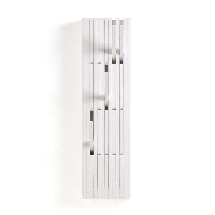 Piano knagerække i lakeret bøg, hvid (RAL 9010), lille, fra Peruse