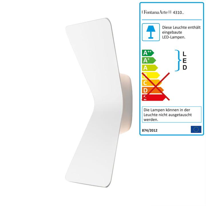 Flex LED-væglampe fra FontanaArte i hvid