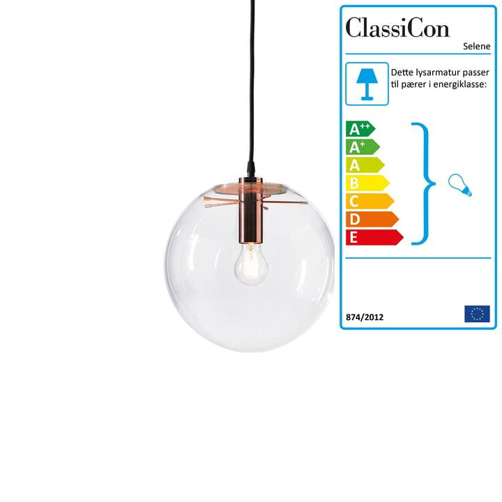 ClassiCon – Selene pendel, kobber, Ø 25 cm