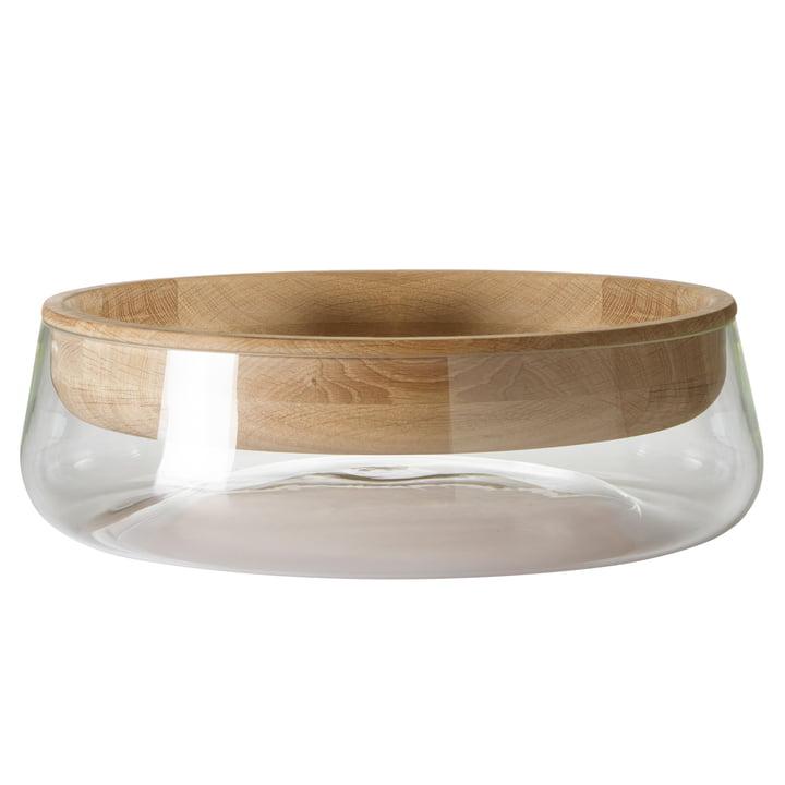 Peruse – Double Bowl, stor, olieret eg/klart glas