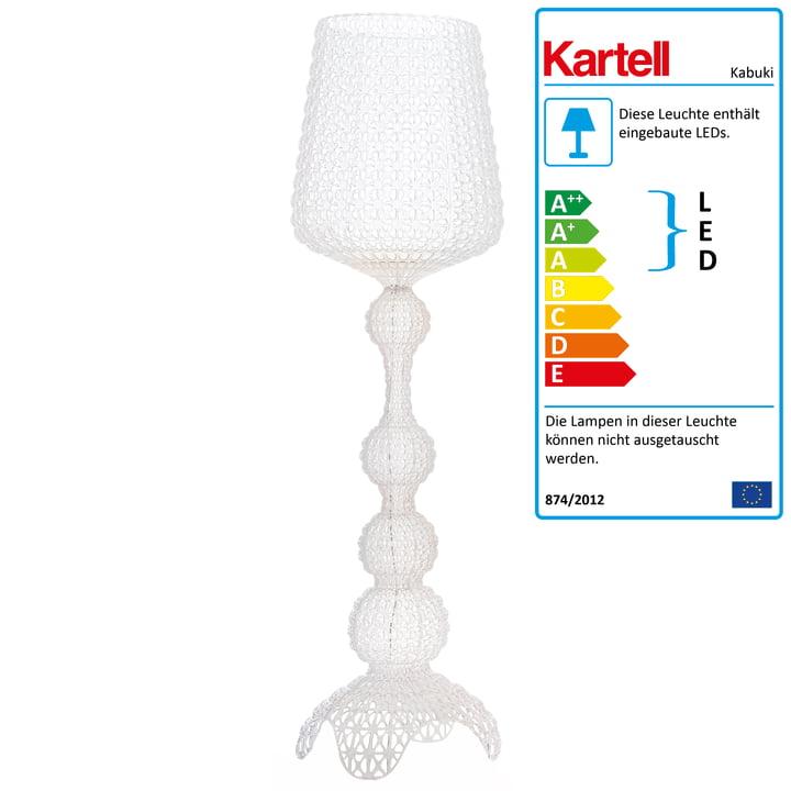 Kabuki LED-gulvlampen fra Kartell i krystalklar