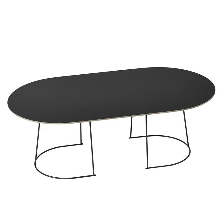 Airy sofabordet, stort i sort fra Muuto