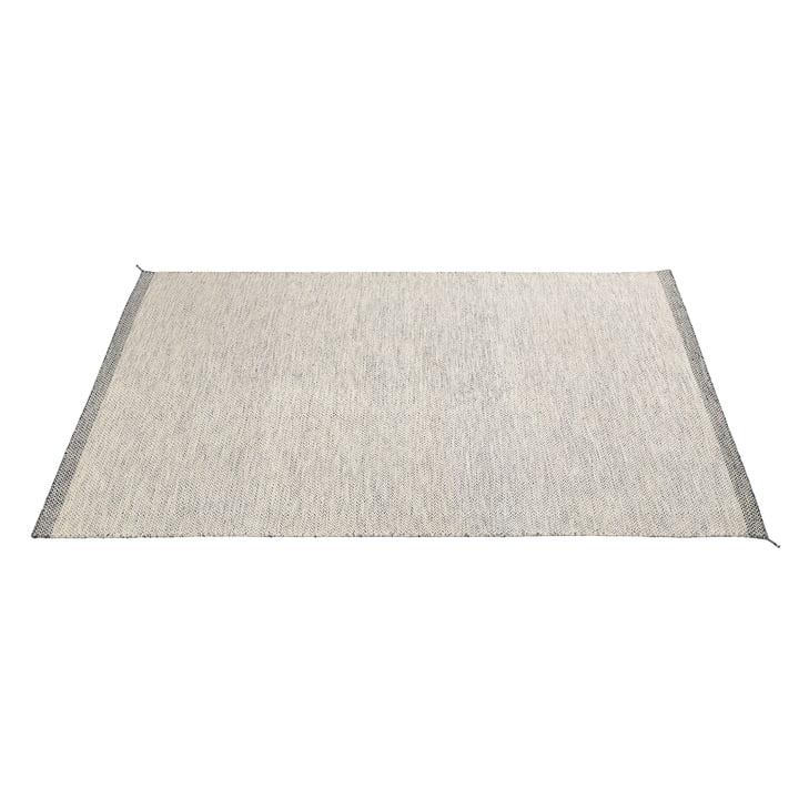 Ply tæppet 200 x 300 cm fra Muuto i sort og hvidt