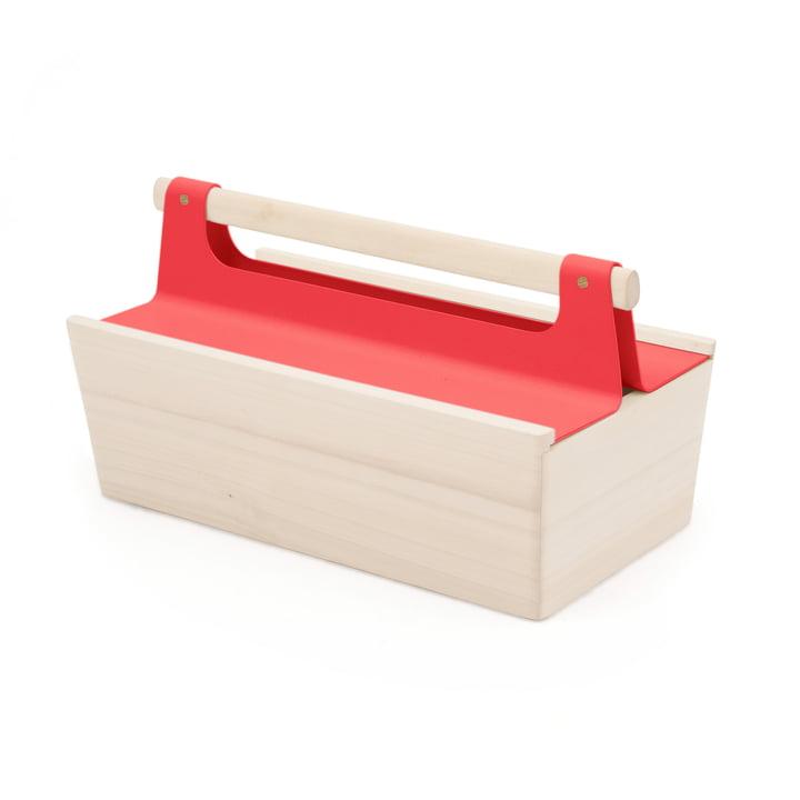 Louisette værktøjskasse fra Hartô i jordbærrød (RAL 3018)