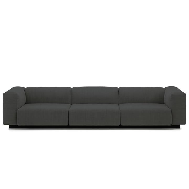 Soft Modular 3-personers sofa fra Vitra i antracitgrå (Laser 03)