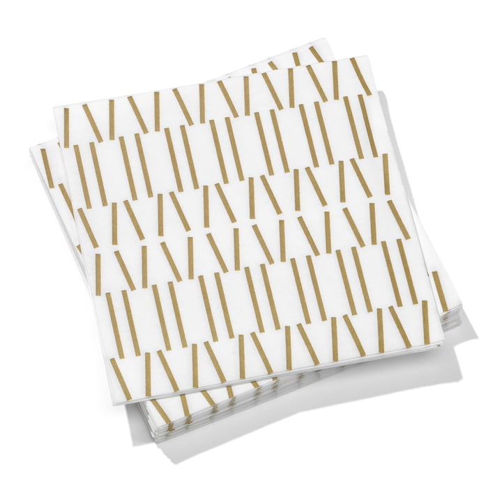 Vitra – Papirservietter store, Broken Lines, guld 40 x 40 cm