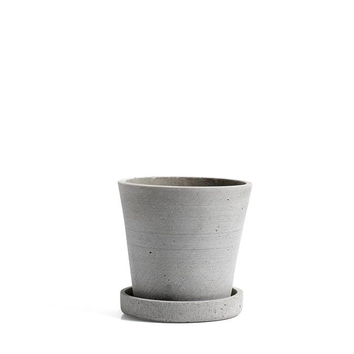 Hay – urtepotte med underskål i S, grå