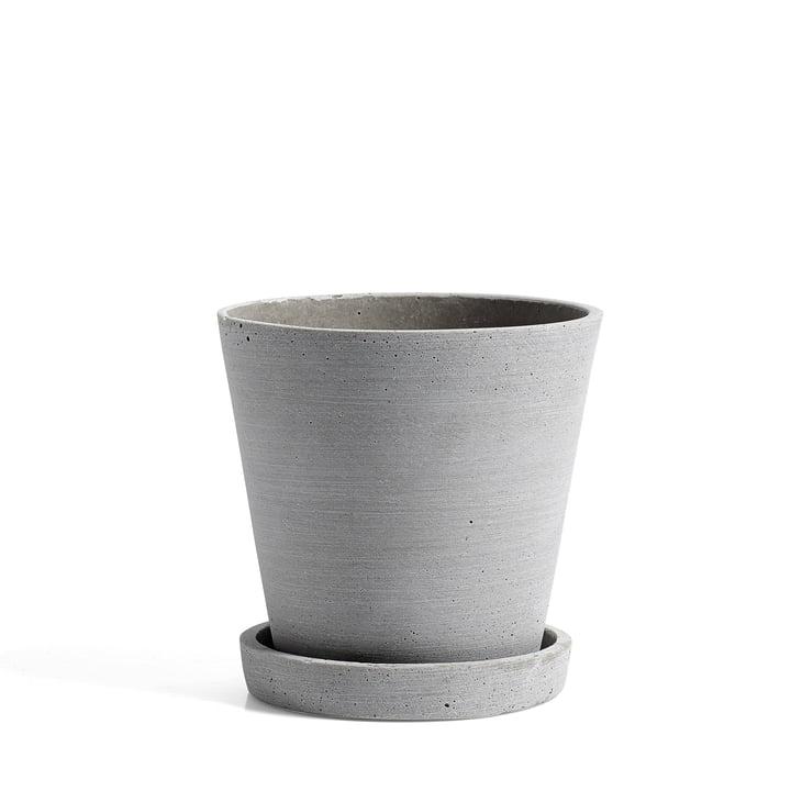 Hay – urtepotte med underskål M, grå