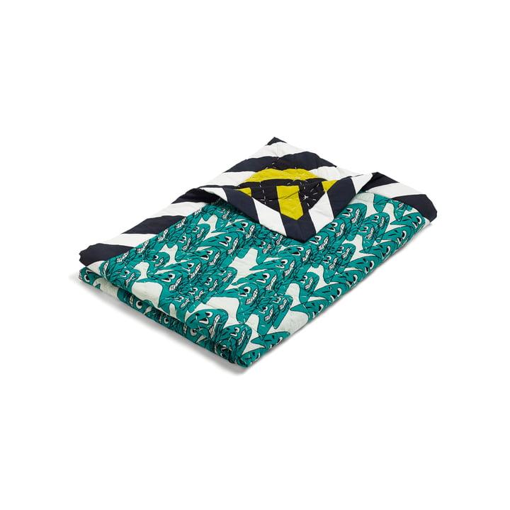 Hay – Smileys Quilt sengetæppe, 140x200, grøn/flerfarvet