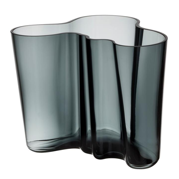 Iittala – Aalto Savoy vase, mørkegrå, 160 mm