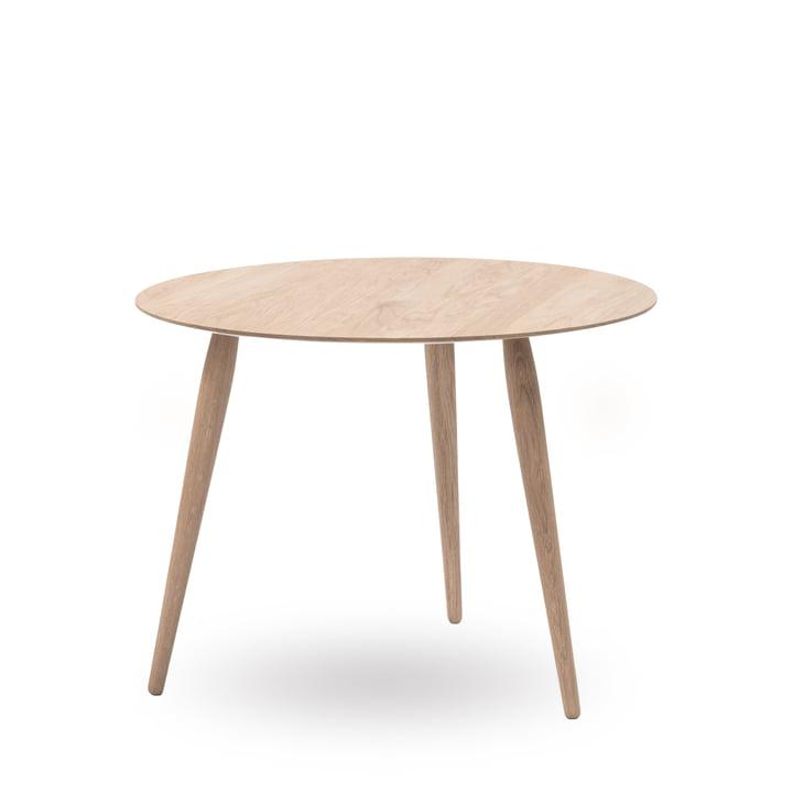 Playround sidebord, Ø 75 cm, fra bruunmunch i sæbebehandlet eg