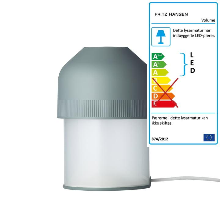 Volume bordlampe fra Fritz Hansen i Evergreen