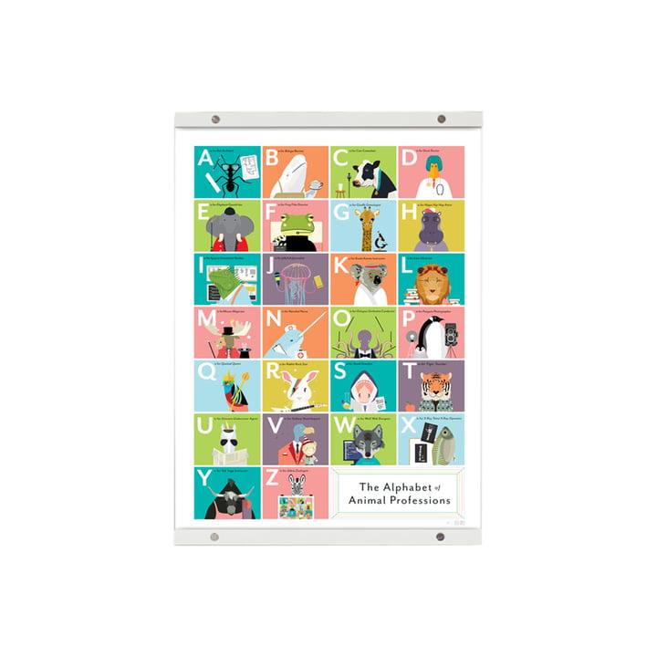 Plakatskinne fra Pop Chart Lab i hvid