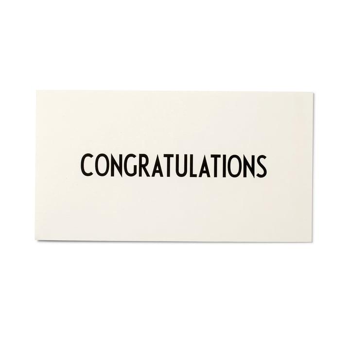 Design Letters – AJ lykønskningskort, Congratulations