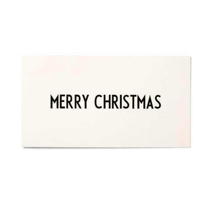 Design Letters – AJ lykønskningskort, Merry Christmas