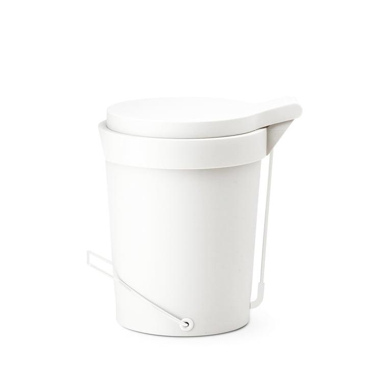 Depot4Design – Tip pedalspand, 7 liter, Ø 22 cm, hvid