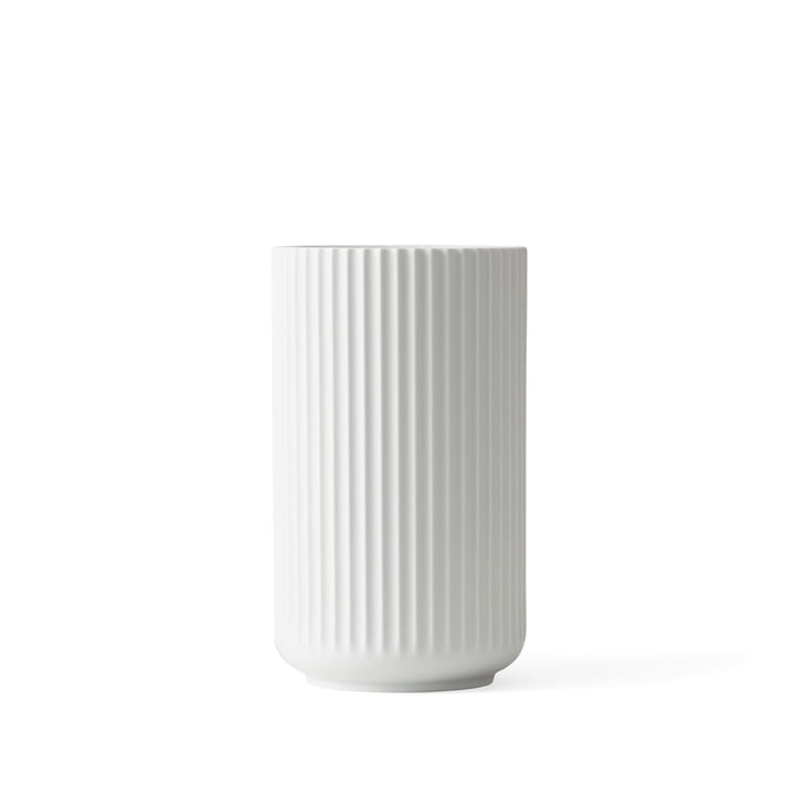 Lyngby Porcelæn – Lyngbyvasen, mat hvid, H 12 cm