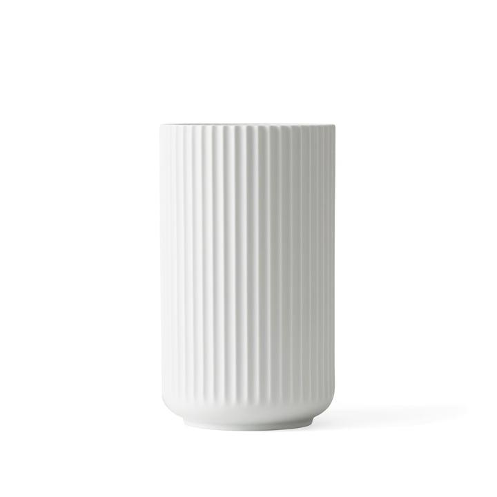 Lyngby Porcelæn – Lyngbyvasen, mat hvid, H 15 cm