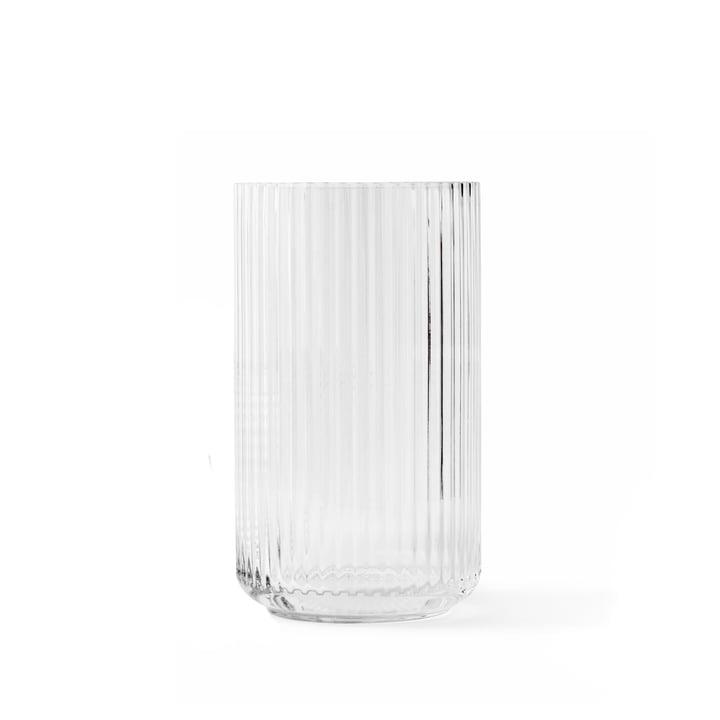 Glasvase H 15,5 cm af Lyngby Porcelæn i gennemsigtig