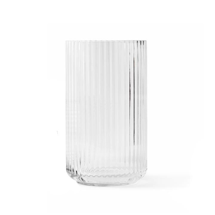 Glasvase H 20 cm af Lyngby Porcelæn i gennemsigtig