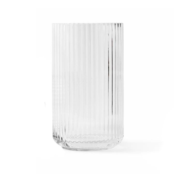Glasvase H 25 cm af Lyngby Porcelæn i gennemsigtig