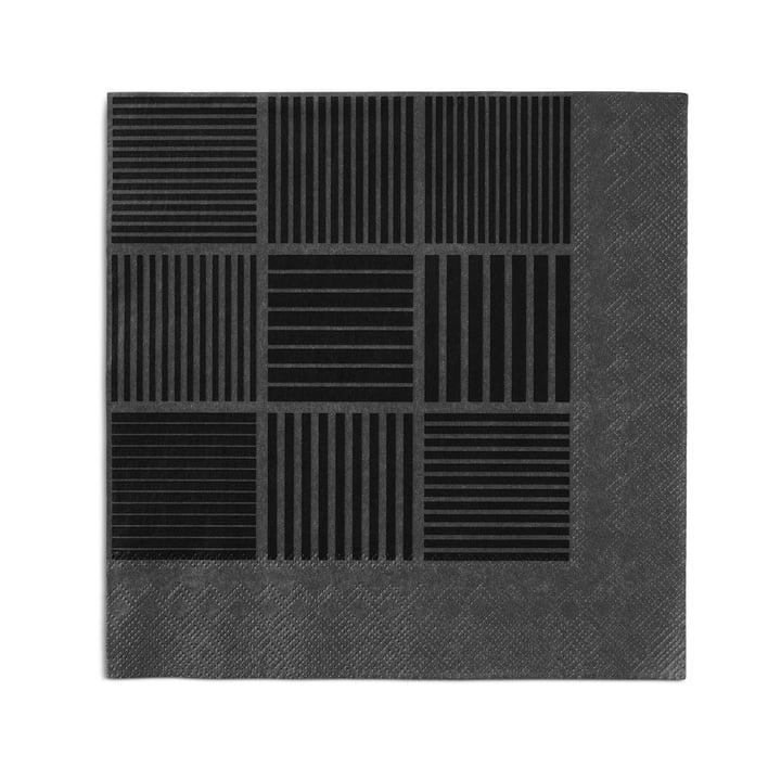 Nanna Ditzel papirservietter, 20 stk. 40 x 40 cm fra Rosendahl i sort/grå