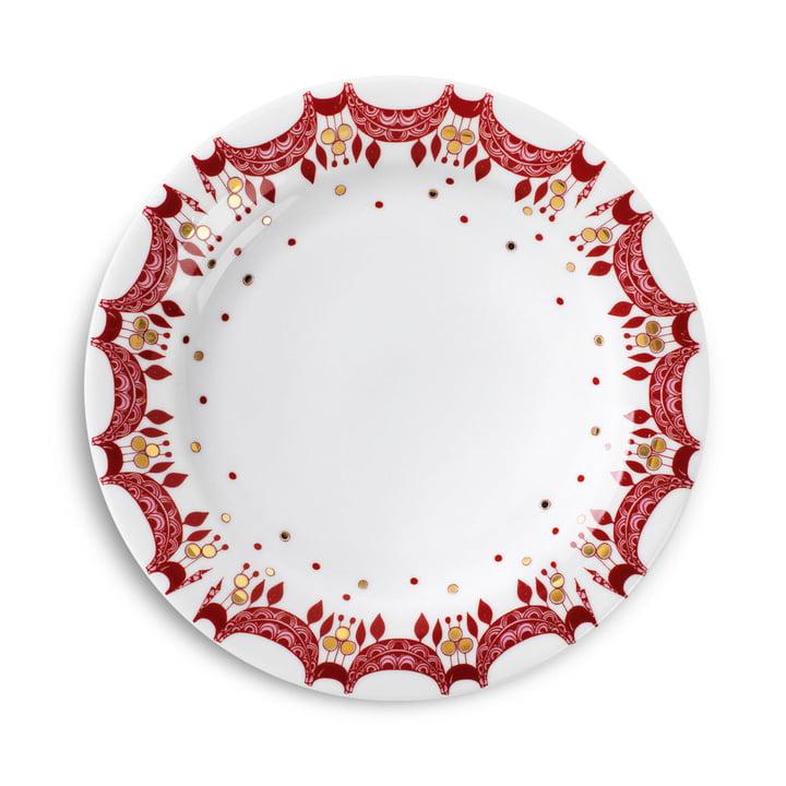 Juletallerken, Ø 20 cm, fra Bjørn Wiinblad i rød