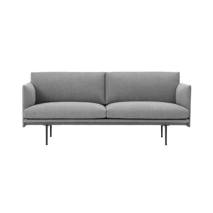 Outline 2-personers sofa fra Muuto i grå