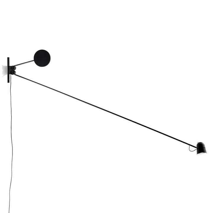 Counterbalance væglampe fra Luceplan i sort