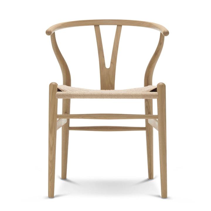 CH24 Wishbone Chair af Carl Hansen i sædet eg / naturlig væv