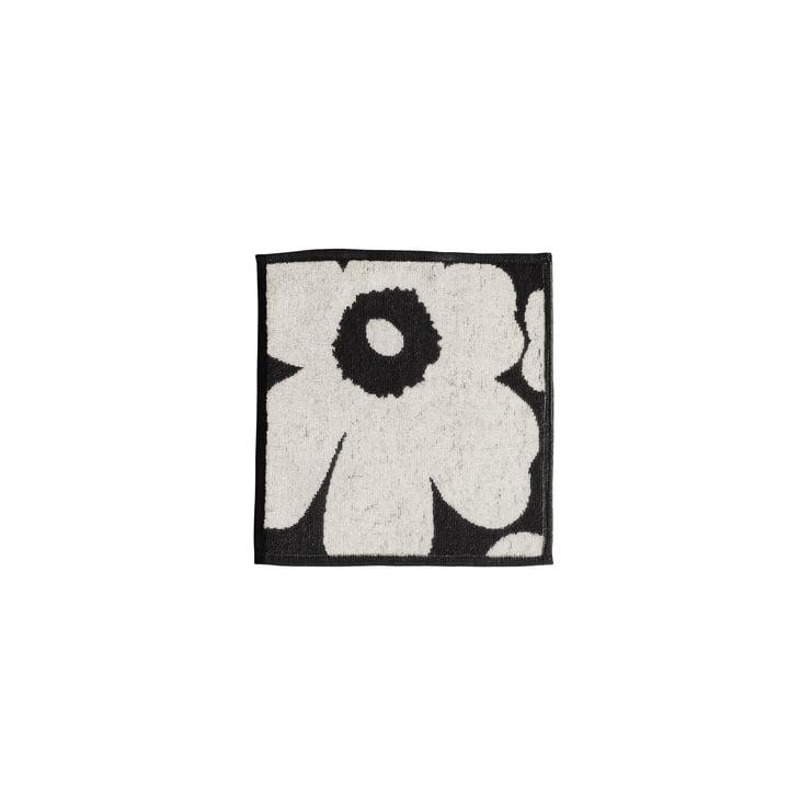 Marimekko – Unikko minihåndklæde, 25 x 25 cm, sort/sand