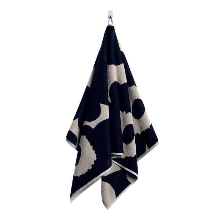 Marimekko – Unikko håndklæde, 50 x 100 cm, sort/sand