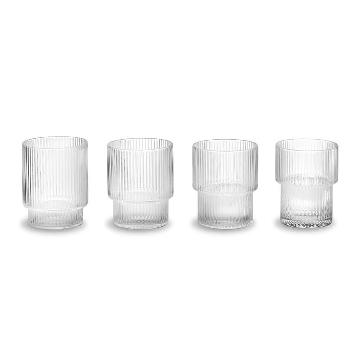Ripple glas (sæt med 4) fra ferm Living