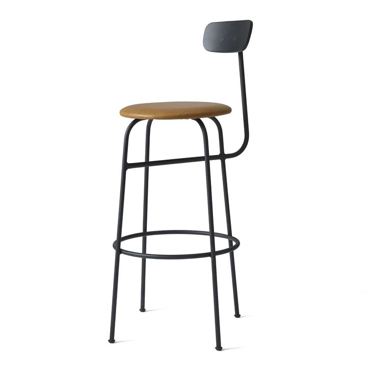 Afteroom barstol fra Menu i sort/cognacfarvet