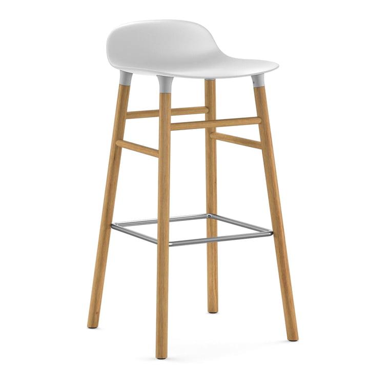 Form barstol 75 cm fra Normann Copenhagen i eg i hvid