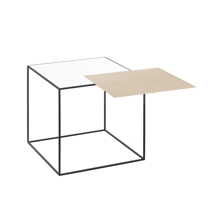 Twin 35 sidebord sorte ramme af Lassen i eg / hvid