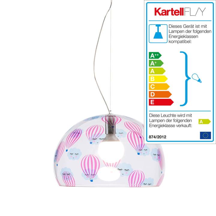 Lille FL/Y børnelampe fra Kartell i gennemsigtig/luftballon