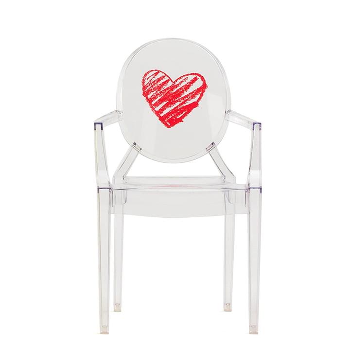 Kartell – Lou Lou Ghost børnestol, transparent/hjerte