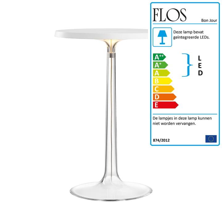 Bon jour bordlampe fra Flos i hvid