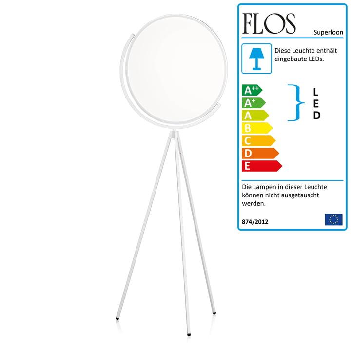 Flos - Superloon gulvlampe i hvid